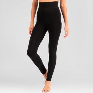 New Medium Women's Black Velvet Lined Leggings